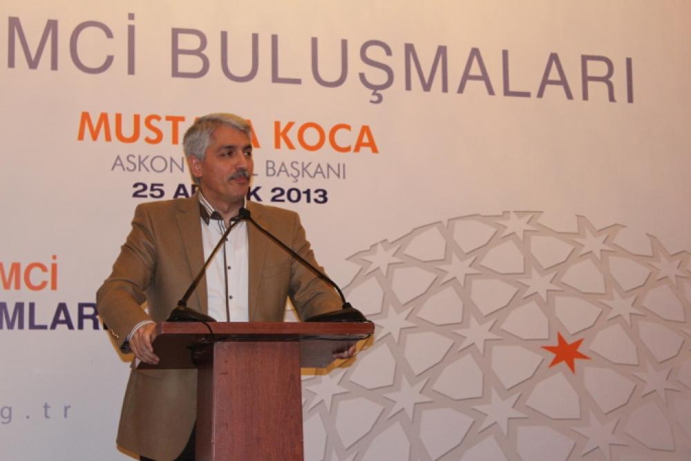 Girişimci Buluşmalarının Aralık Ayı Konuğu ASKON Genel Başkanı Mustafa Koca oldu