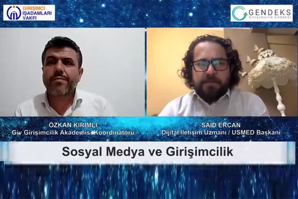 """""""SOSYAL MEDYA ve GİRİŞİMCİLİK"""""""