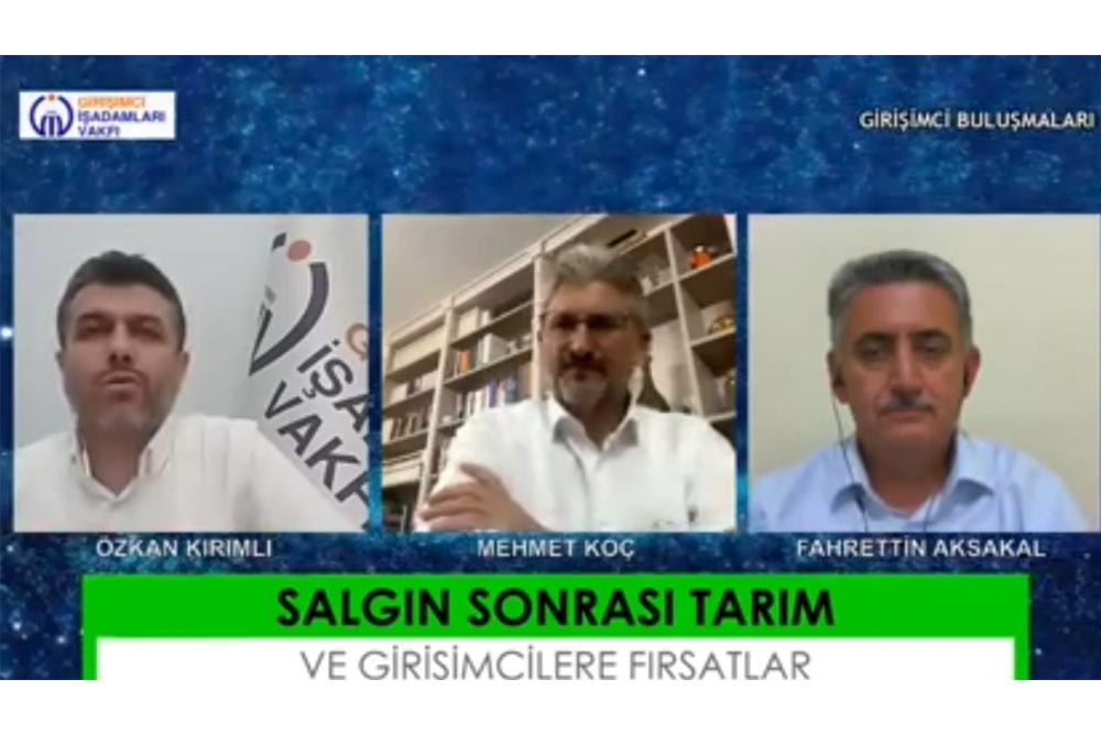 """""""GİV GİRİŞİMCİ BULUŞMALARI"""" Konuğumuz Baharsun Tarım Genel Müdürü Fahrettin AKSAKAL Oldu."""